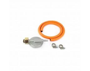 Комплект: газовый шланг 80 см, редуктор GOK 30 мбар, хомуты усиленные