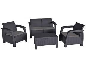 Комплект садовой мебели Bahamas, серый