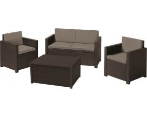Комплект садовой мебели Monaco set, коричневый